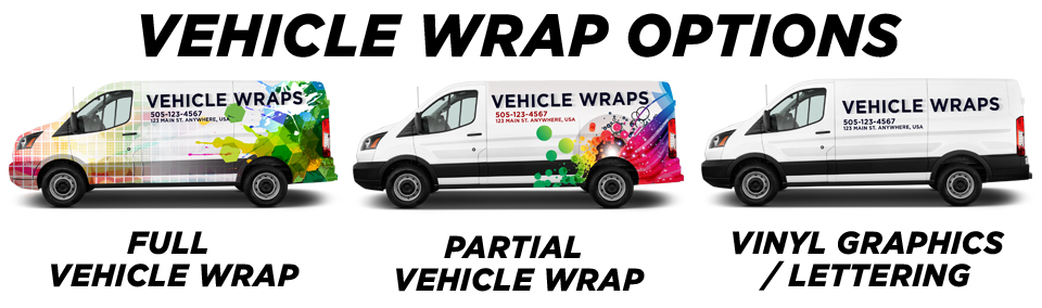 Stafford Vehicle Wraps vehicle wrap options