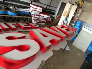 Custom Channel Letters Fabrication